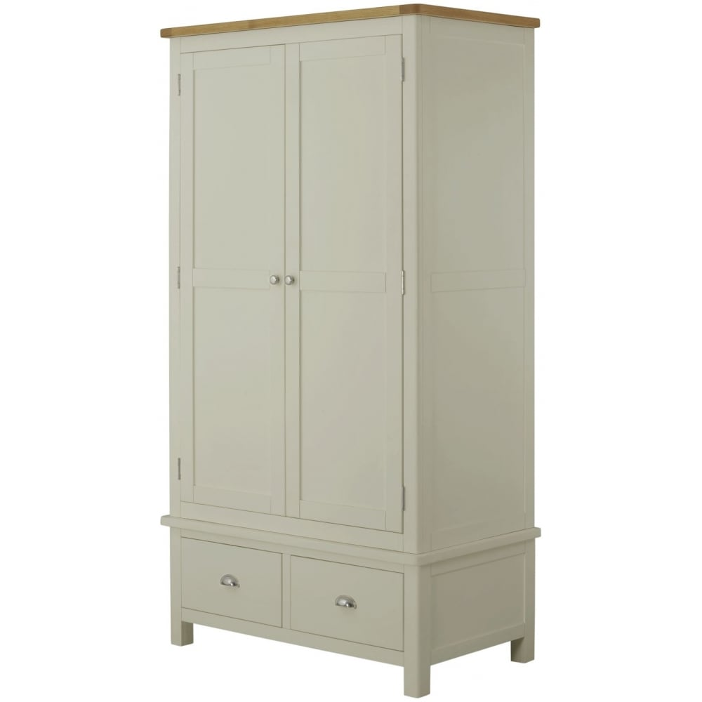 Portland Stone Double Wardrobe With 2 Drawers Bedroom