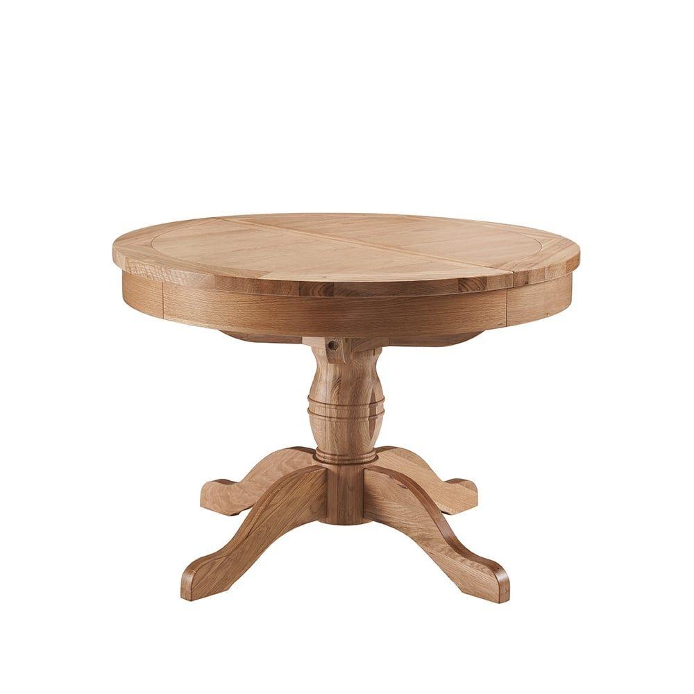 Colorado Oak Round Extending Table Dining Room Classic Essentials