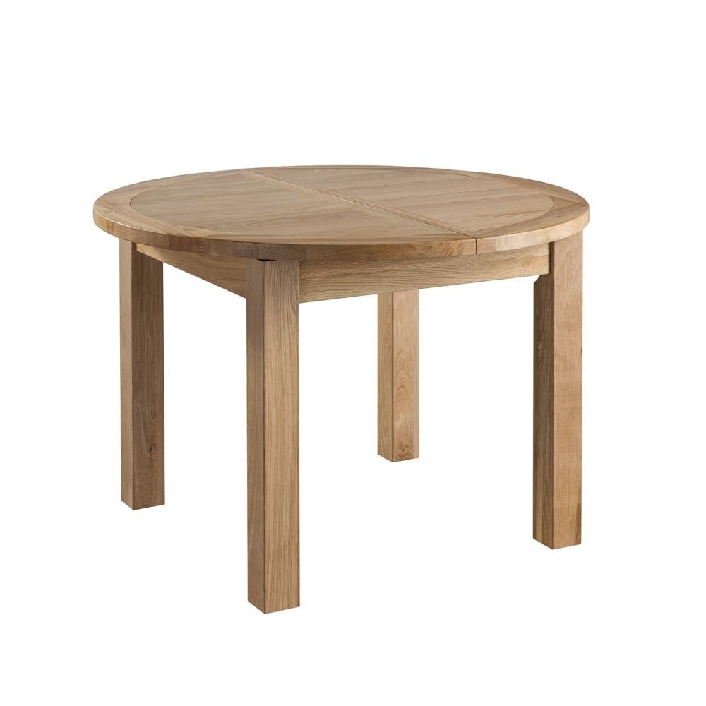 colorado oak round extending table 4 legs dining room