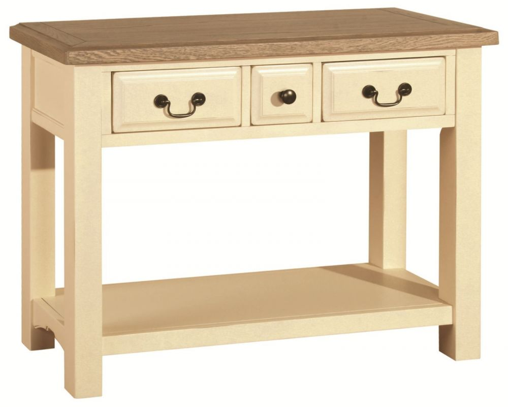 Savannah painted oak console table dining room savannah painted item added savannah painted oak console table geotapseo Gallery