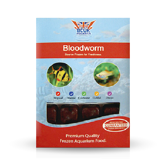 Bloodworm frozen fish food freshwater and marine bcuk for Bloodworms fish food
