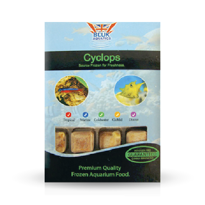 Cyclops frozen fish food freshwater and marine bcuk for Frozen fish food
