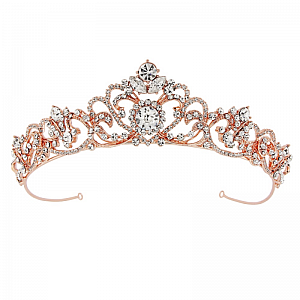 Davina Bejewelled Tiara - Rose Gold