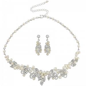 Vintage Inspired Pearl Jewellery Set