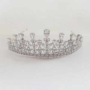 Luxe Marquise Cut Crystal Tiara