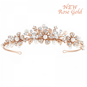 Ellen Rose Gold Plated Tiara