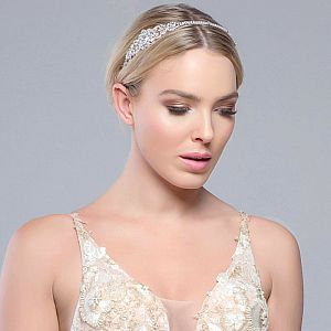 Beatrice Crystal & Diamante Wedding Side Tiara