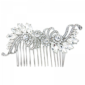 Vintage Inspired Crystal Bridal Comb