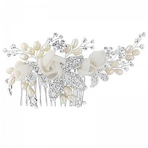 Freya Luxe Bridal Comb - Silver