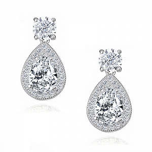 Dazzling Crystal Drop Earrings