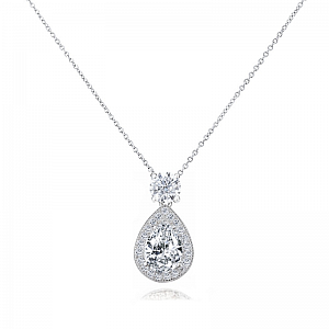 Dazzling Crystal Drop Necklace