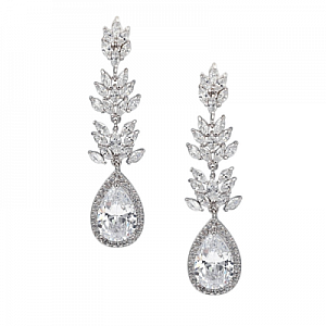 Cubic Zirconia Sparkling Glamour Earrings