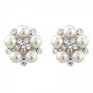 Chic Ivory Pearl Earrings