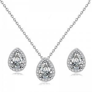 Cubic Zirconia Dainty Gem Jewellery Set