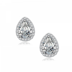 Cubic Zirconia Dainty Gem Earrings