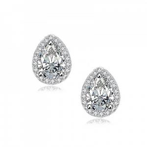 Cubic Zirconia Gem Earrings