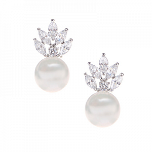 Pearl and Sparkle Earrings