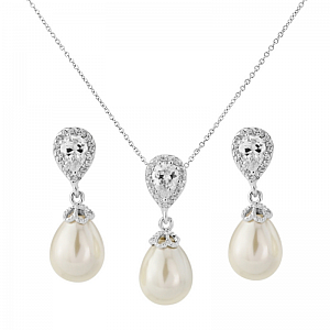 Pearl Shimmer Jewellery Set