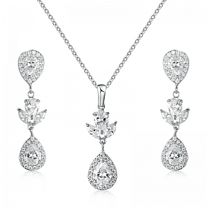 Cubic Zirconia Elegance Jewellery Set