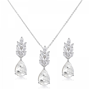 Cubic Zirconia Vintage Inspired Jewellery Set