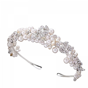 Diamante & Pearl Bridal Headband