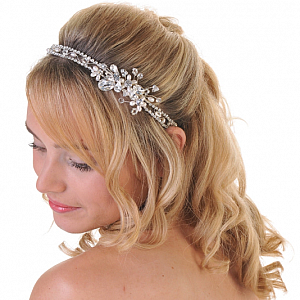 Pearl & Diamante Double Side Tiara