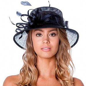 Small Occasion / Wedding Hat - Navy