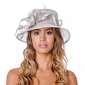 Small Occasion / Wedding Hat - Silver