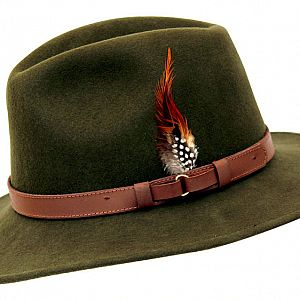 Wool Felt Ranger Hat - Green