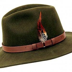 Wool Felt Ranger Fedora - Green