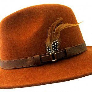Wool Felt Ranger Fedora - Rust