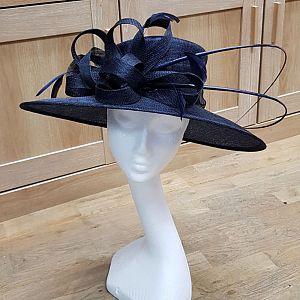 Dark Navy Wedding Hat / Occasion Hat