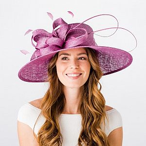 Wedding Hat / Occasion Hat - Cassis