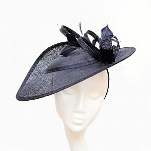 Medium Navy Wedding Hat / Hatinator