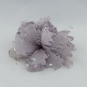 Feather & Crystal Fascinator Clip