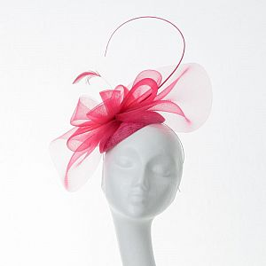 Pillbox Crin Fascinator - Samba Pink