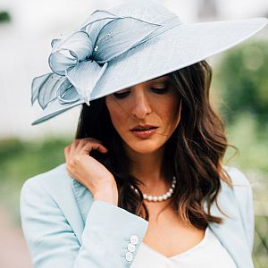 Large Occasion Hatinator - Air Blue