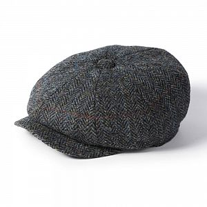 Harris Tweed Carloway Cap - Grey/Blue Mix