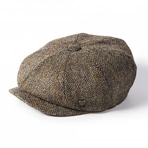 Harris Tweed Carloway Cap - Brown