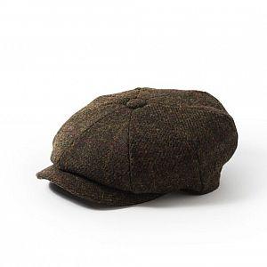 Harris Tweed Carloway Cap - Olive