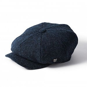 Harris Tweed Carloway Cap - Blue