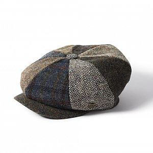 Harris Tweed Lewis 8 Piece Cap - Multi Mix