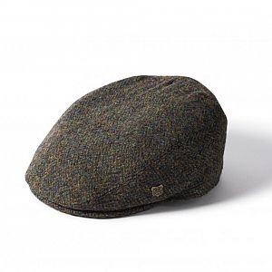 Harris Tweed Stornoway  Flat Cap - Green