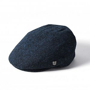 Harris Tweed Stornoway Flat Cap - Blue