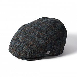 Harris Tweed Stornoway Flat Cap - Blue/Green
