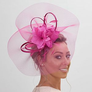 Large Crin Fascinator - Magenta