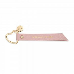 Katie Loxton Flag Keyring / Bag Charm - Fabulous Friend - Pink