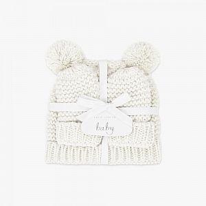 Katie Loxton Baby Hat & Mittens Set - White