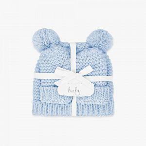 Katie Loxton Baby Hat & Mittens Set - Blue