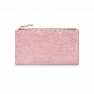 Katie Loxton Celine Faux Croc Fold Out Purse - Pink